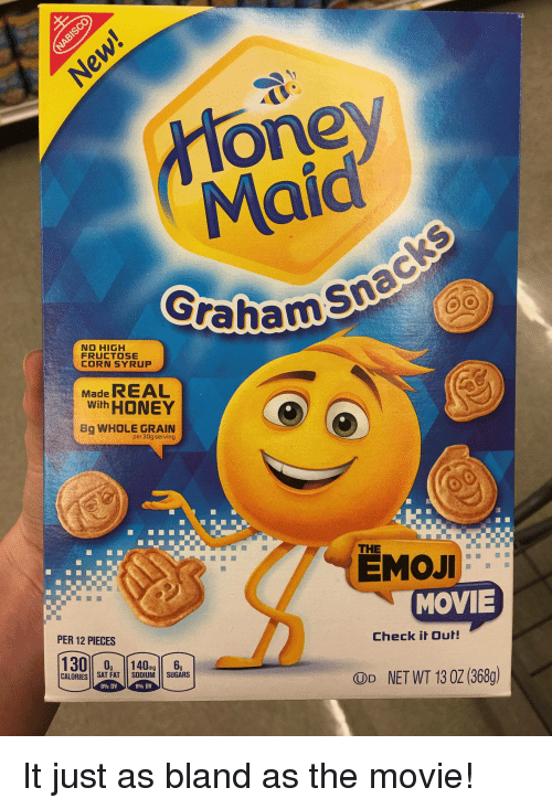 Oney Maid Graham NO HIGH FRUCTOSE CORN SYRUP Made REAL With