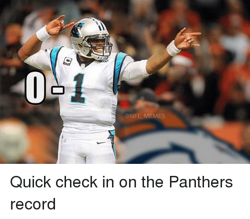 Meme, Memes, and Nfl: ONFL MEMES Quick check in on the Panthers record