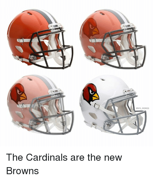 Memes, Nfl, and Browns: ONFL MEMES The Cardinals are the new Browns