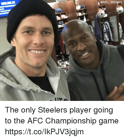 AFC Championship Game, Football, and Memes: ONFL MEMES The only Steelers player going to the AFC Championship game https://t.co/IkPJV3jqjm