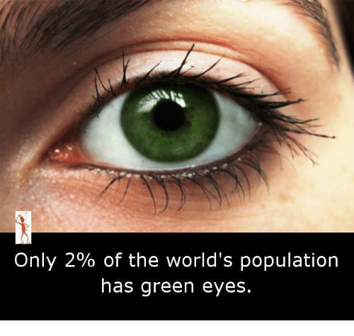 only 2 of the world s population has green eyes meme on me me