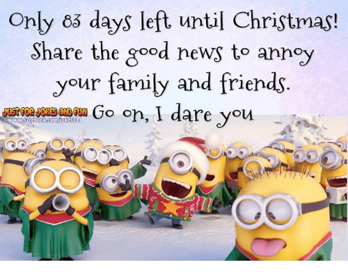 christmas dank and family only 65 days left until christmas share the - How Many Days Left For Christmas
