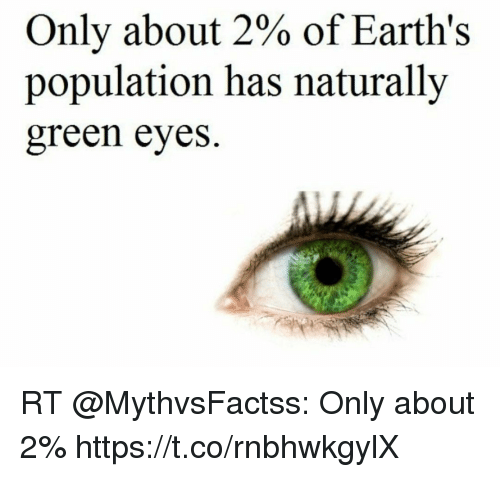 Only About 2 Of Earths Population Has Naturally Green Eyes Rt Only