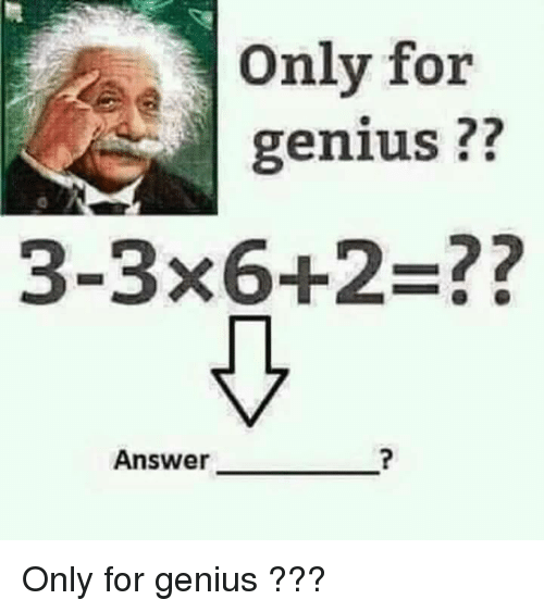 Only For Genius 3 3x62 Answer Only For Genius Genius Meme On