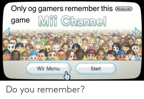 Only Og Gamers Remember This Nintendo Game Mii Channel Wii