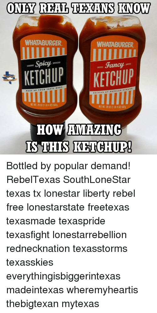 ONLY REAL TEXANS KNOW WHATABURGER WHATABURCER Spicy Fancy