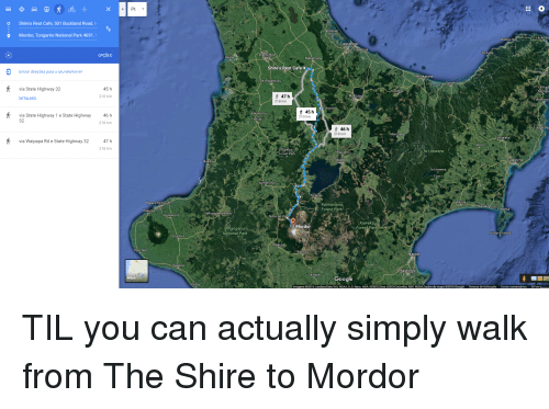 The Shire To Mordor