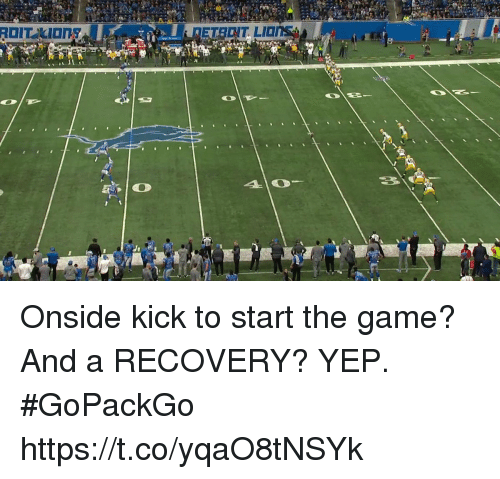 Memes, The Game, and Game: Onside kick to start the game? And a RECOVERY?  YEP. #GoPackGo https://t.co/yqaO8tNSYk