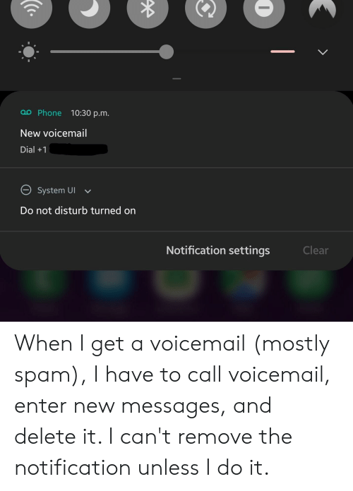 Oo Phone 1030 Pm New Voicemail Dial+1 System UI Do Not
