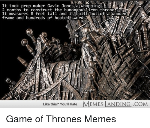 OO Pones a Whopping 2 Months to Construct the Humongous Throne It ...