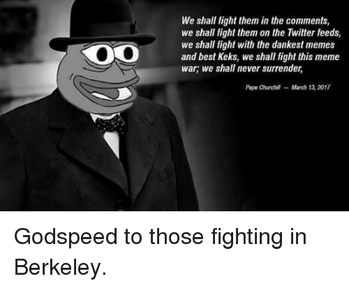 Oo We Shall Fight Them In The Comments We Shall Fight Them On The