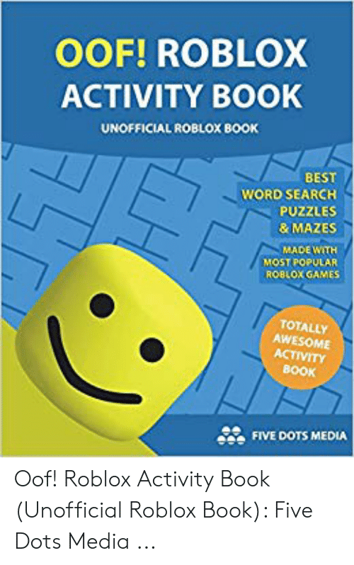 OOF! ROBLOX ACTIVITY BOOK UNOFFICIAL ROBLOX BOOK BEST WORD SEARCH