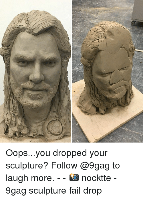 9gag, Fail, and Memes: Oops...you dropped your sculpture? Follow @9gag to laugh more. - - 📸 nocktte - 9gag sculpture fail drop