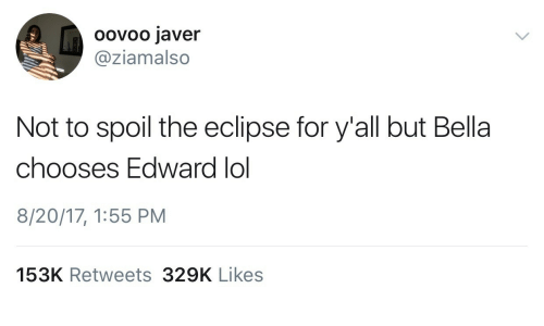 Oovoo Javer Not to Spoil the Eclipse for Y'all but Bella Chooses