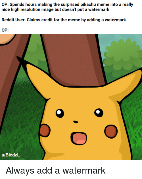 Op Spends Hours Making The Surprised Pikachu Meme Into A Really Nice