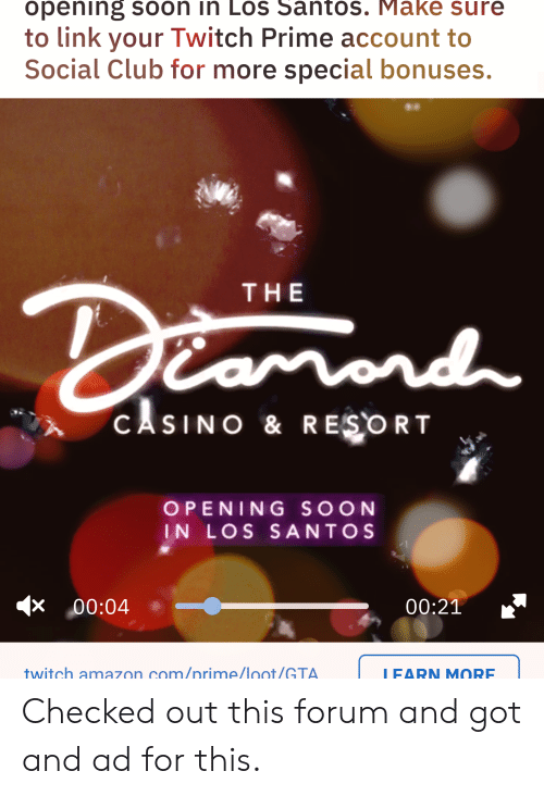 Opening Soon in Los Santos Make Sure to Link Your Twitch