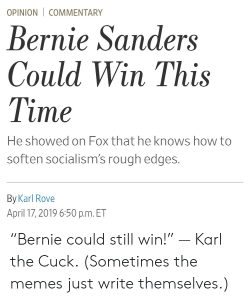 """Bernie Sanders, Memes, and How To: OPINION 