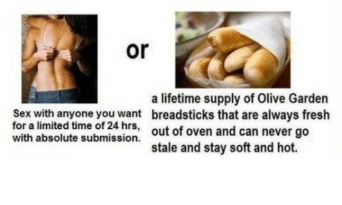 fresh olive garden and sex or a lifetime supply of olive garden breadsticks - Olive Garden Novi