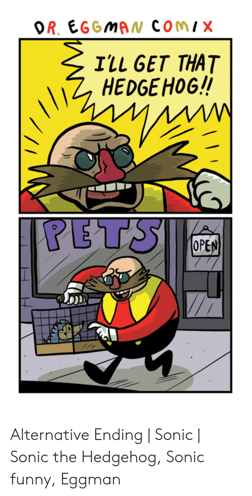 Or Eggman Comix I Ll Get That Hedgehog Pets Ope Alternative Ending Sonic Sonic The Hedgehog Sonic Funny Eggman Funny Meme On Me Me