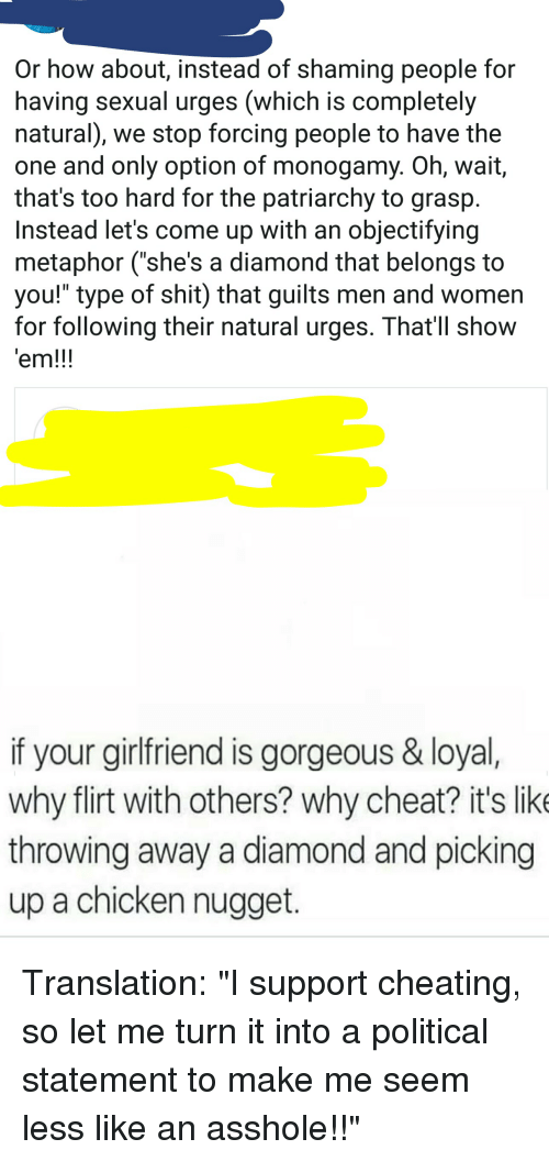 How we got asshole cheater