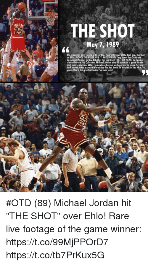 d0cd2a70c0300e ORD 23 THE SHOT May 71989 the Inbounds Pass Comes in to Jordan ...
