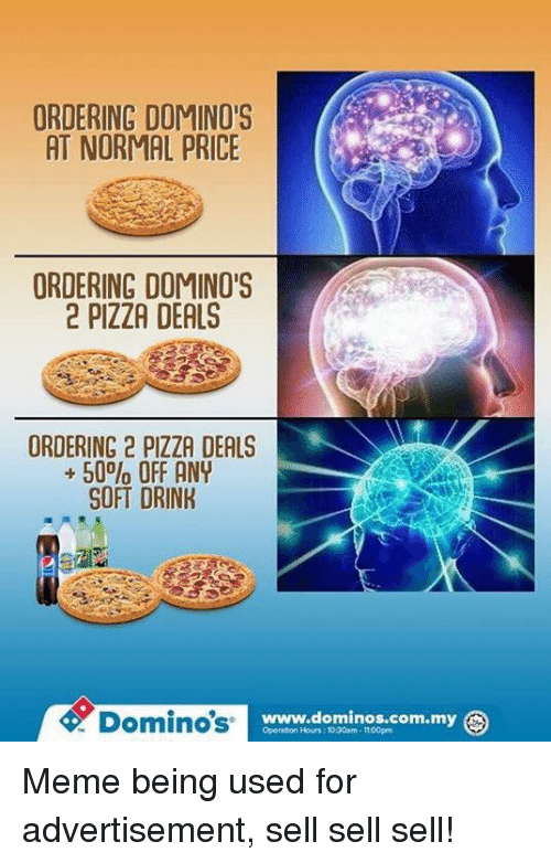 ORDERING DOMINOS AT NORMAL PRICE ORDERING DOMINO'S 2 PIZZA