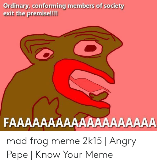 Ordinary Conforming Members Of Society Exit The Premise Mad Frog