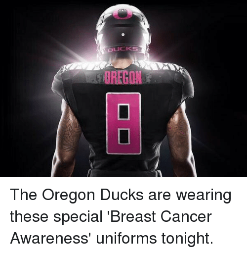 pretty nice d9ae5 7888c OREGON the Oregon Ducks Are Wearing These Special 'Breast ...