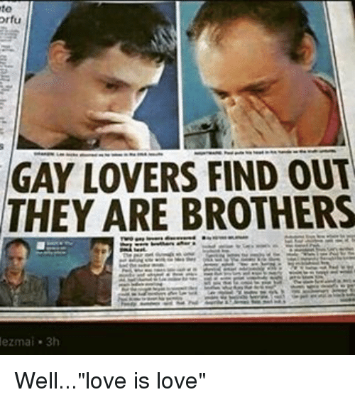 Gay Lovers orfu gay lovers find out they are brothers ezmai 3h welllove is love