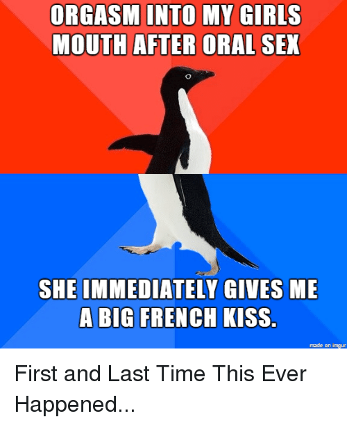 Kissing girl after oral sex