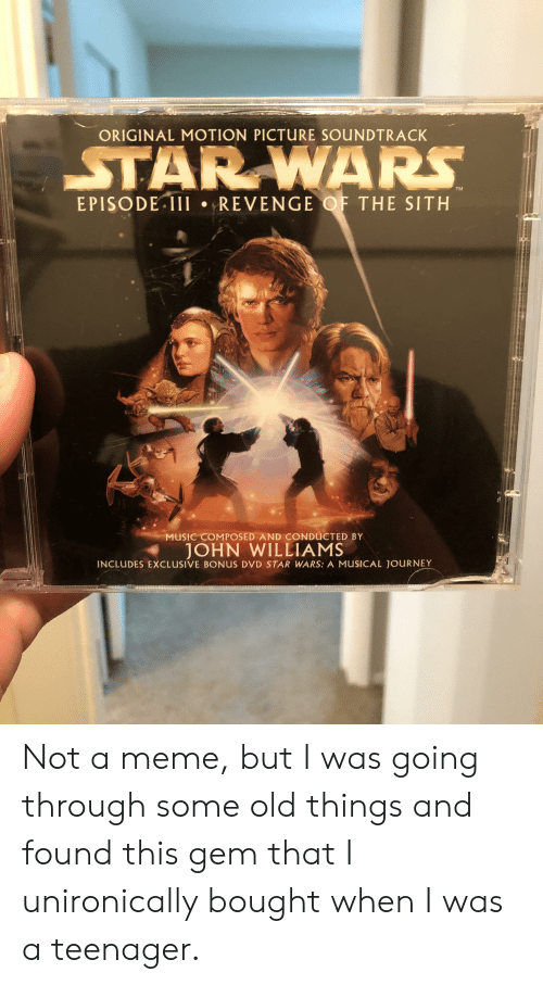 Original Motion Picture Soundtrack Star Wars Tm Episode 1ii Revenge Of The Sith Music Composed And Conducted By John Williams Includes Exclusive Bonus Dvd Star Wars A Musical Journey Not A Meme