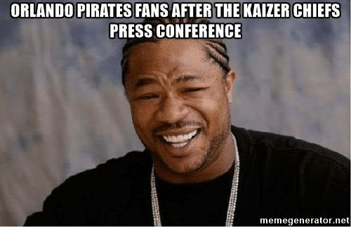 Chiefs Orlando And Pirates Orlando Pirates Fans After The Kaizer Chiefs Press Conference Share Via Message