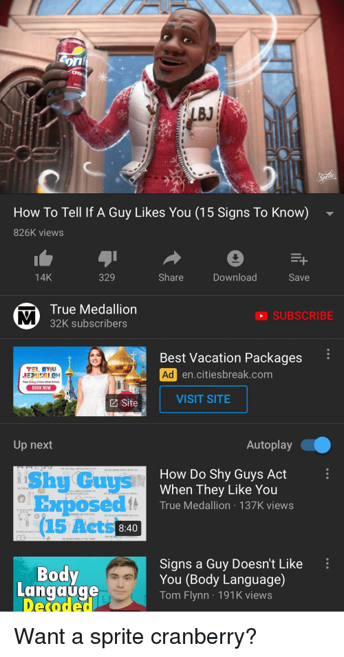 Orn BJ How to Tell if a Guy Likes You 15 Signs to Know 826K Views