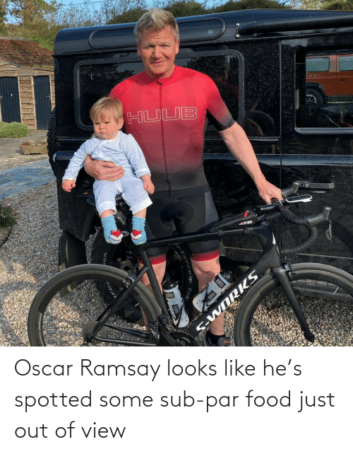 Food, Oscar, and Par: Oscar Ramsay looks like he's spotted some sub-par food just out of view