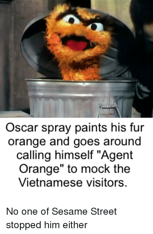 Oscar Spray Paints His Fur Orange And Goes Around Calling Himself