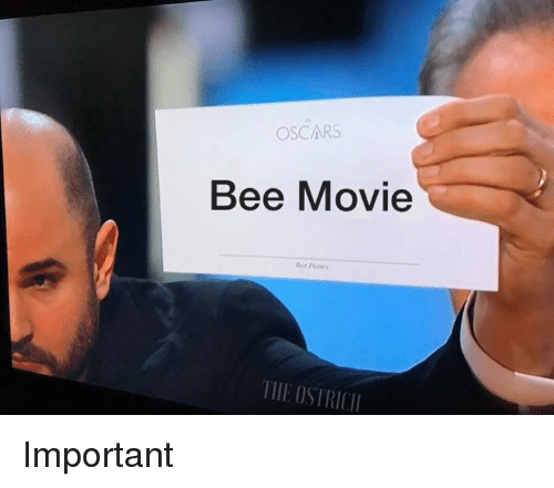 Bee Movie, Oscars, and Movie: OSCARS  Bee Movie  TIIEOSTRICII Important