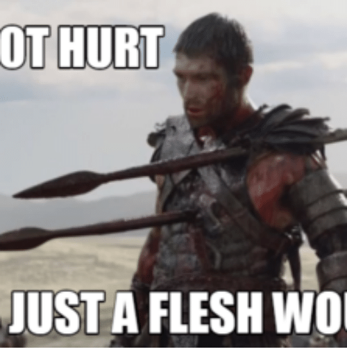 ot hurt just 13604138 ✅ 25 best memes about tis merely a flesh wound tis merely a