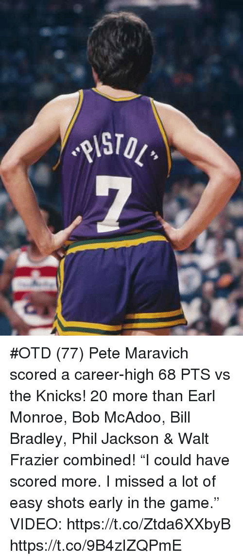 low priced 33632 82483 OTD 77 Pete Maravich Scored a Career-High 68 PTS vs the ...