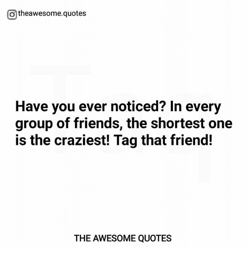 Otheawesomequotes Have You Ever Noticed In Every Group Of Friends