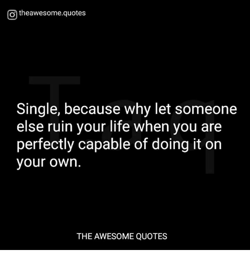 Otheawesomequotes Single Because Why Let Someone Else Ruin Your - 29 photos that perfectly sum up how your life is going