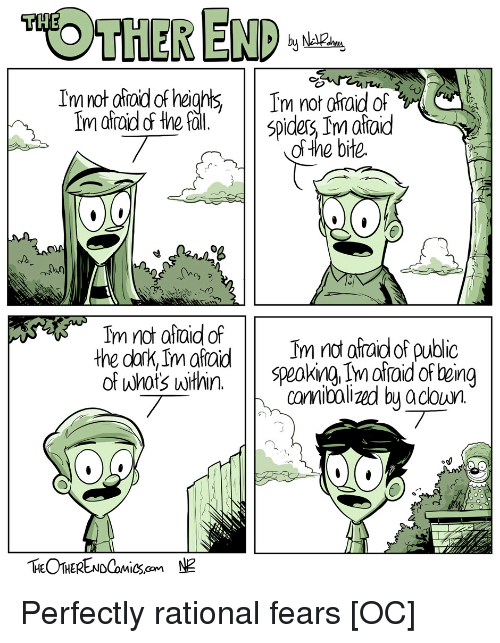 Comics, Rational, and Public: OTHER ENP  of the bite  O8  rnot afraid of public  conibolized by adoun  the cark, ImataidIm Perfectly rational fears [OC]
