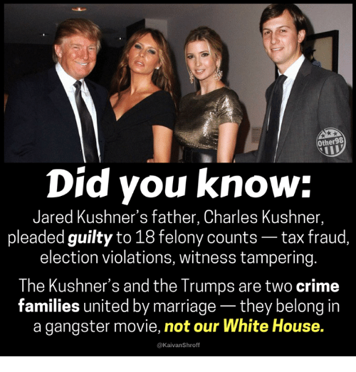Image result for Trump-Kushner Crime Family