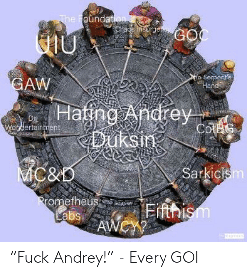 Oundat Rg O Serpent's AW Hatng Andrey Dh Ertainmient C&