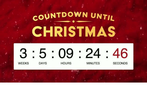How Many Hours Until Christmas.How Many More Weeks Till Christmas 2017 Christmaswalls Co