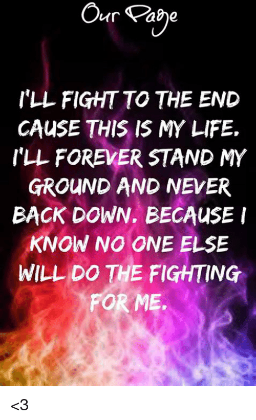 Our Abe I'LL FIGHT TO THE END CAUSE THIS IS MY LIFE ILL ...