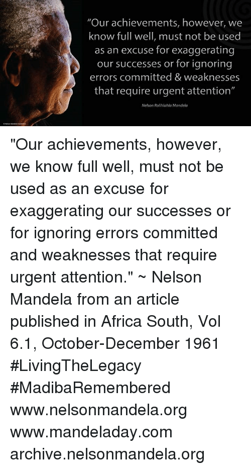 nelson mandela and his achievements