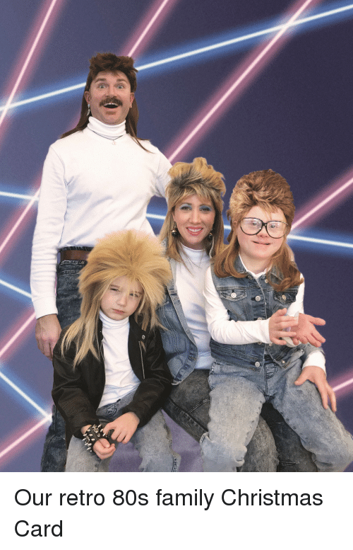 80s, Christmas, and Family: Our retro 80s family Christmas Card