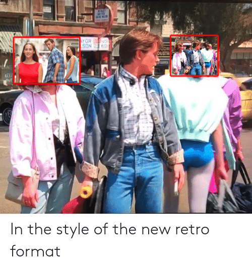 Funny, Format, and New: OUSTR  KEE In the style of the new retro format