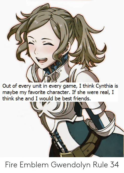 Out Of Every Unit In Every Game I Think Cynthia Is Maybe My