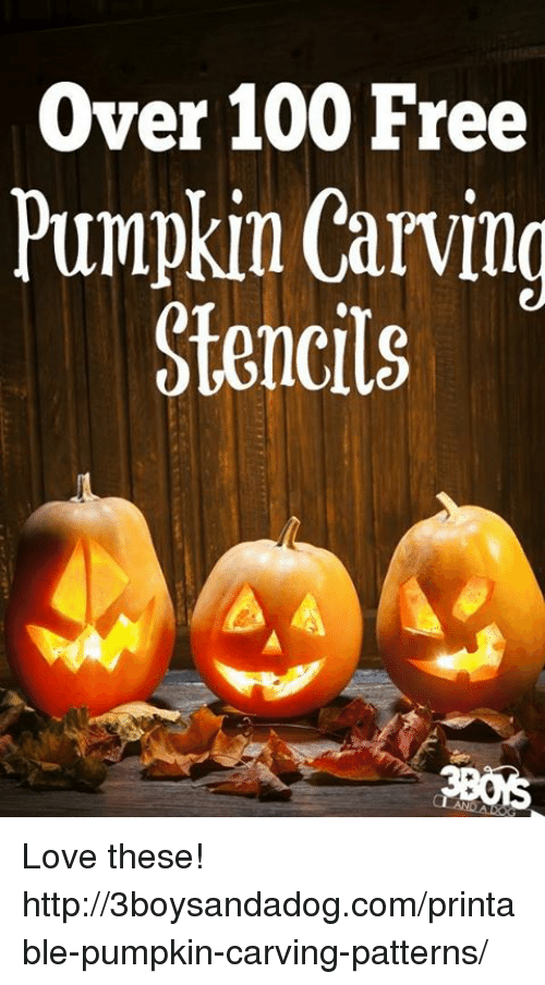Over 100 Free Pumpkin Carving Stencils Love These